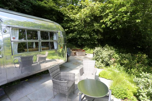 airstream with hot tub