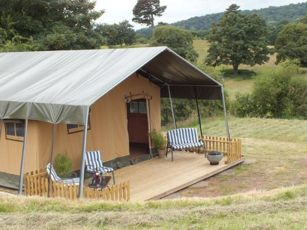 safari style glamping in country setting