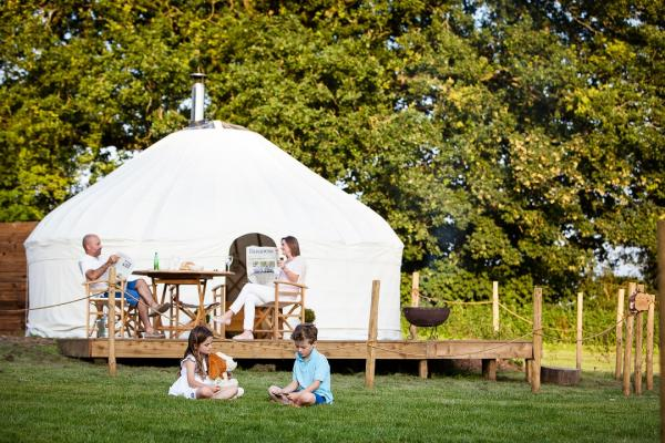 relax with the family at Yurtshire
