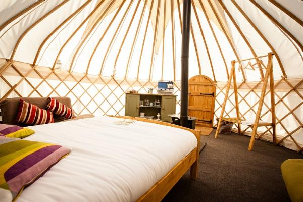 comfortable interior of yurt