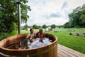 enjoy the hot tub