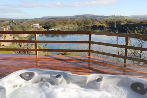 new decking and hot tub