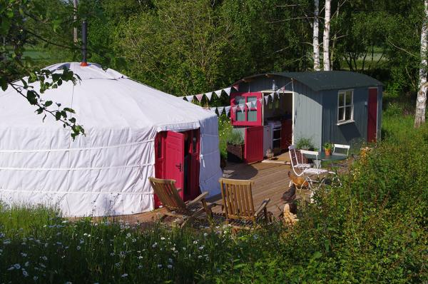 the yurt on midland farm