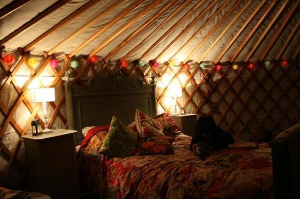 get cosy at The Yurt at Midland Farm