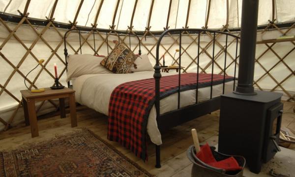 interior of Chestnut Yurt