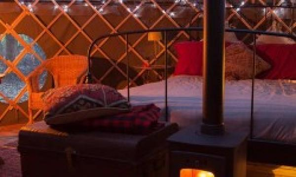 Cosy interior Rother Yurt